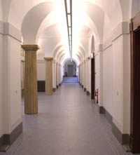 The 2nd floor corridor of the Ashton building